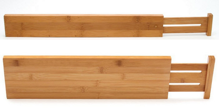 Expandable wood drawer dividers