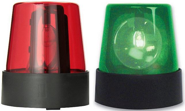 Toy police light