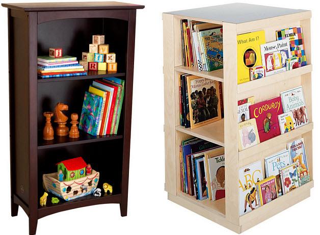 kids wooden bookcase