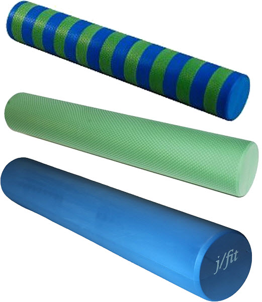 workout and yoga foam roller