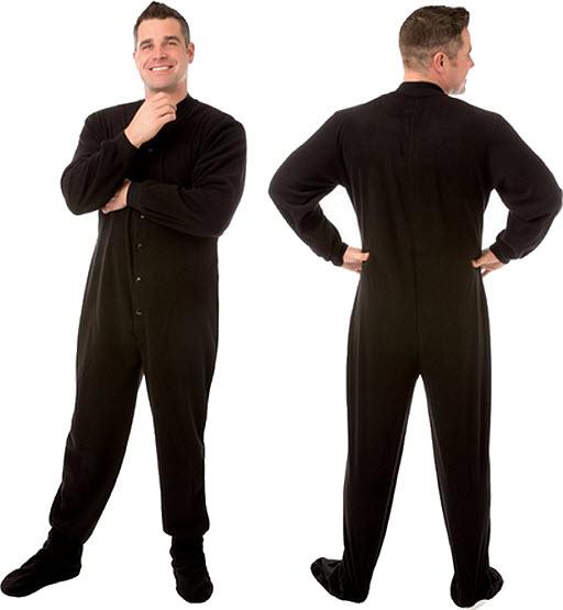 Adult black onesie - b