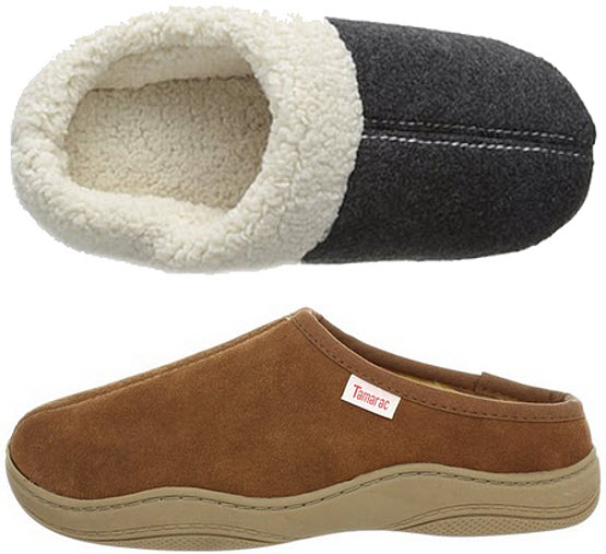 Fleece clog slippers