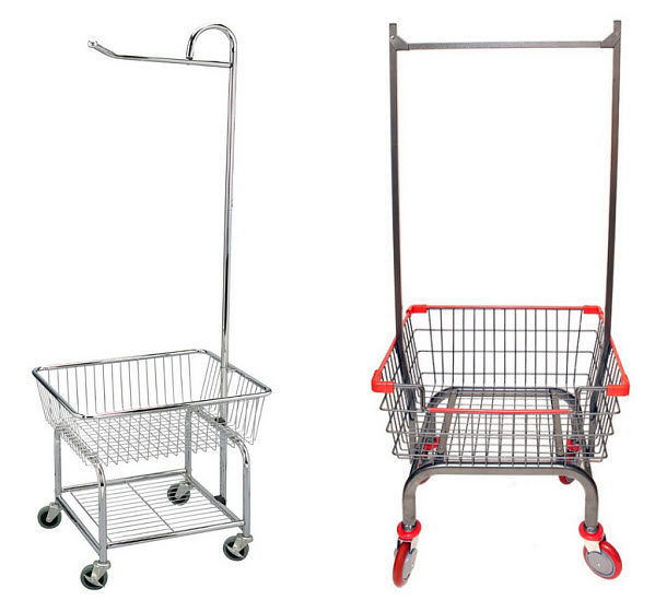 Laundry cart with hanger