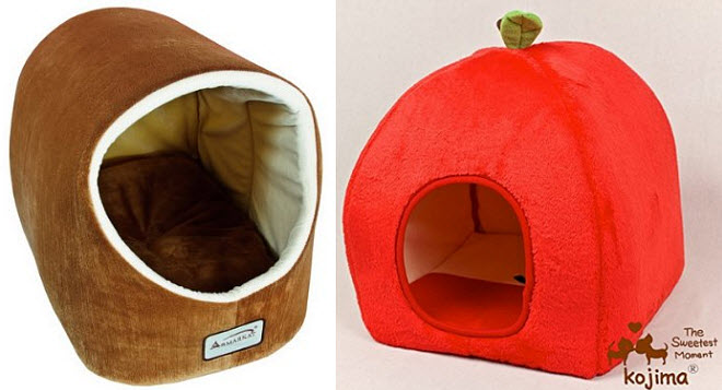 cat and dog cave bed