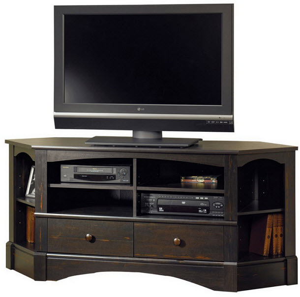 Corner TV stand with drawers - 2