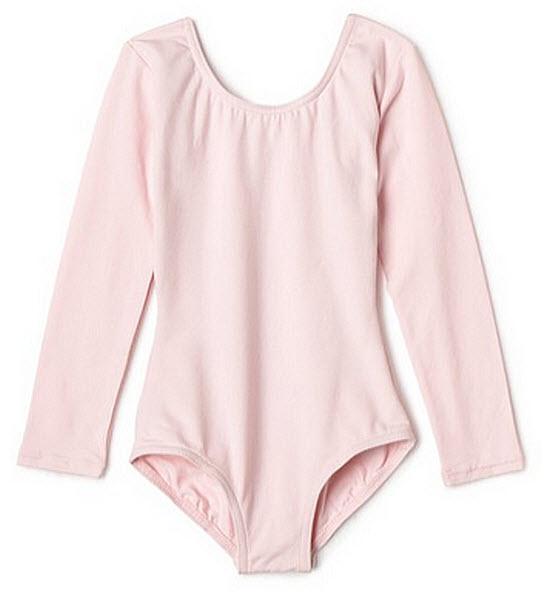 Girls pink ballet leotard