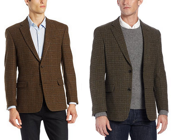 Mens brown wool blazer - 2