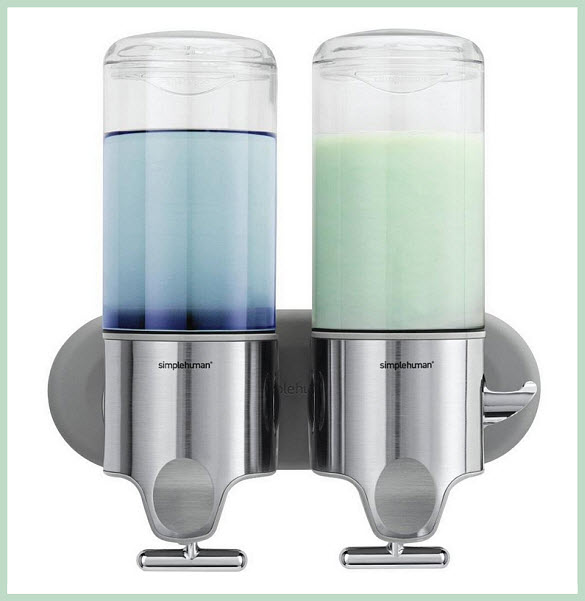 Wall-mounted shower soap dispenser