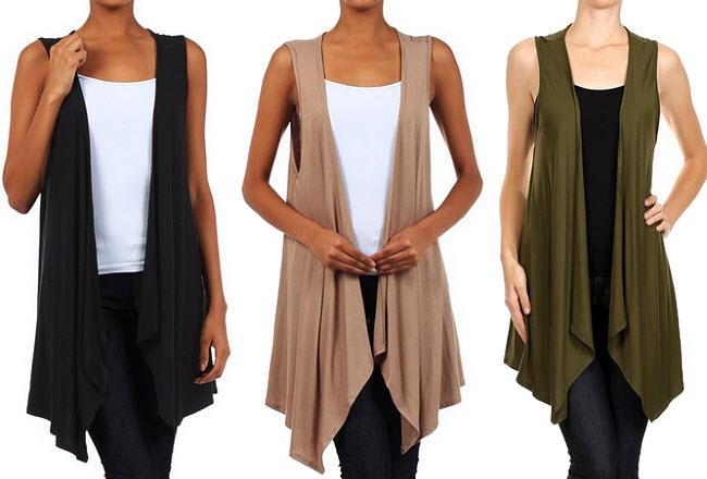 Womens long sweater vest