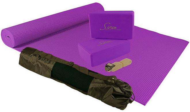 Yoga mat and blocks kit