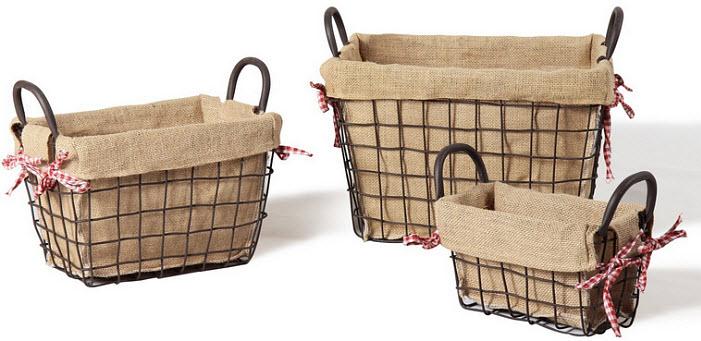 Rustic metal baskets