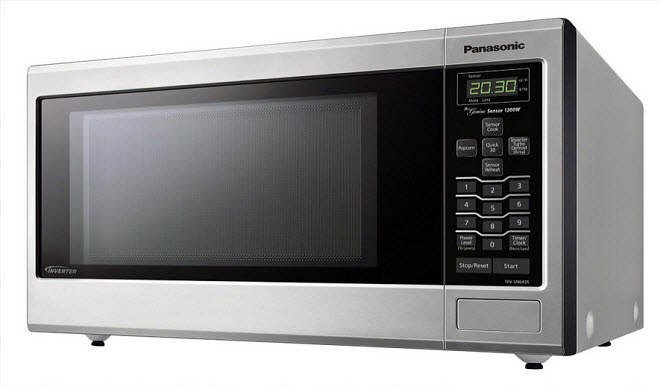 Stainless-steel countertop microwave oven