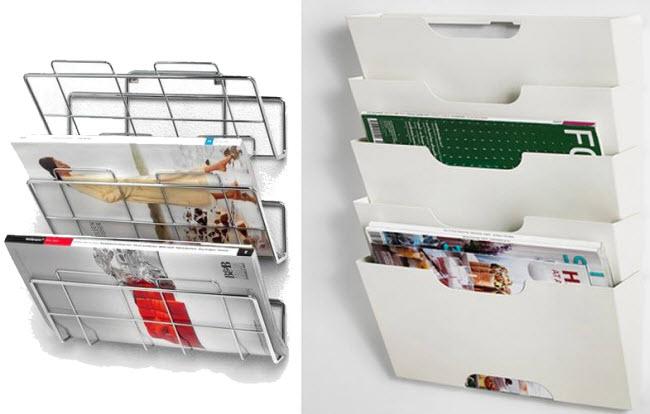 Wall-mounted magazine holder - 2