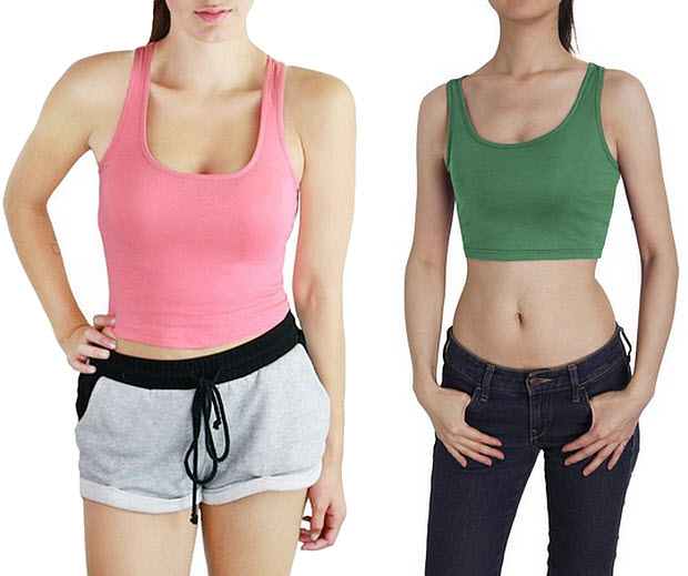 Womens cropped tank top
