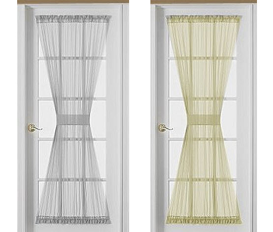 french door panel curtain