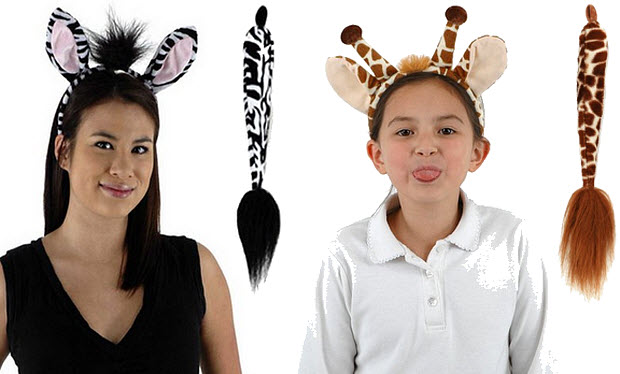 Animal ears and tail set