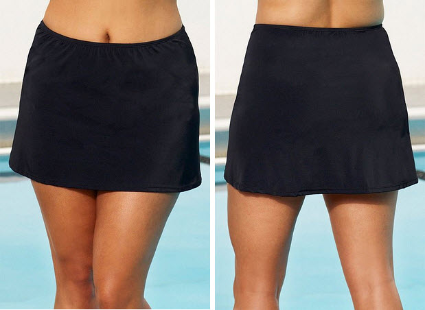 Womens black swim skirt
